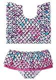 swimsobo Little Girls Swimsuits Mermaid Fish Scale