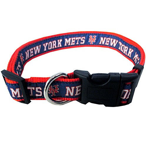 New York Mets Dog Collar - MLB NEW YORK METS Dog Collar, Large