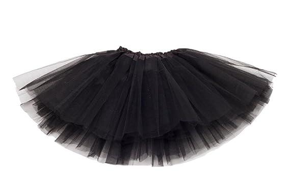 Falda de Tul Lily para niñas - Tutú Enagua Falda de Ballet - Negro ...