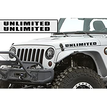 Jeep Wrangler Rubicon X  Unlimited Decal Sticker Set of 10
