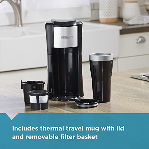 BLACK+DECKER Single Serve Coffeemaker, Black, CM618 by BLACK+DECKER (Image #3)