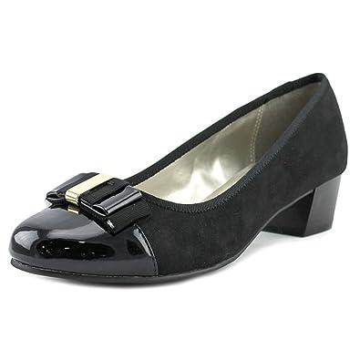 Karen Scott Womens darragh Fabric Cap Toe Classic Pumps Black Size 8.0
