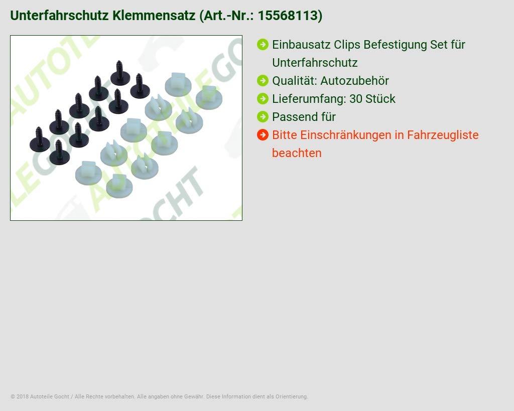 20-TEILIG EINBAUSATZ CLIP F UNTERFAHRSCHUTZ FÜR FORD