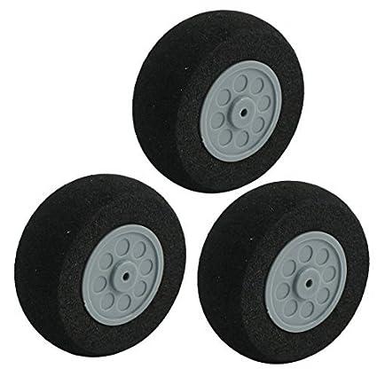 3pcs aviones de RC Juguete plástico del eje DIY esponja habló neumático de la rueda 45x18.5mm - - Amazon.com