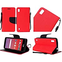 HR Wireless Cell Phone Case for LG X Power - Red