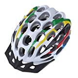 EverTrust(TM) 41 Vents Road MTB Race Hero Mountain Bike Bicycle Cycling Safety Helmet with Visor 205g Adult Colorful
