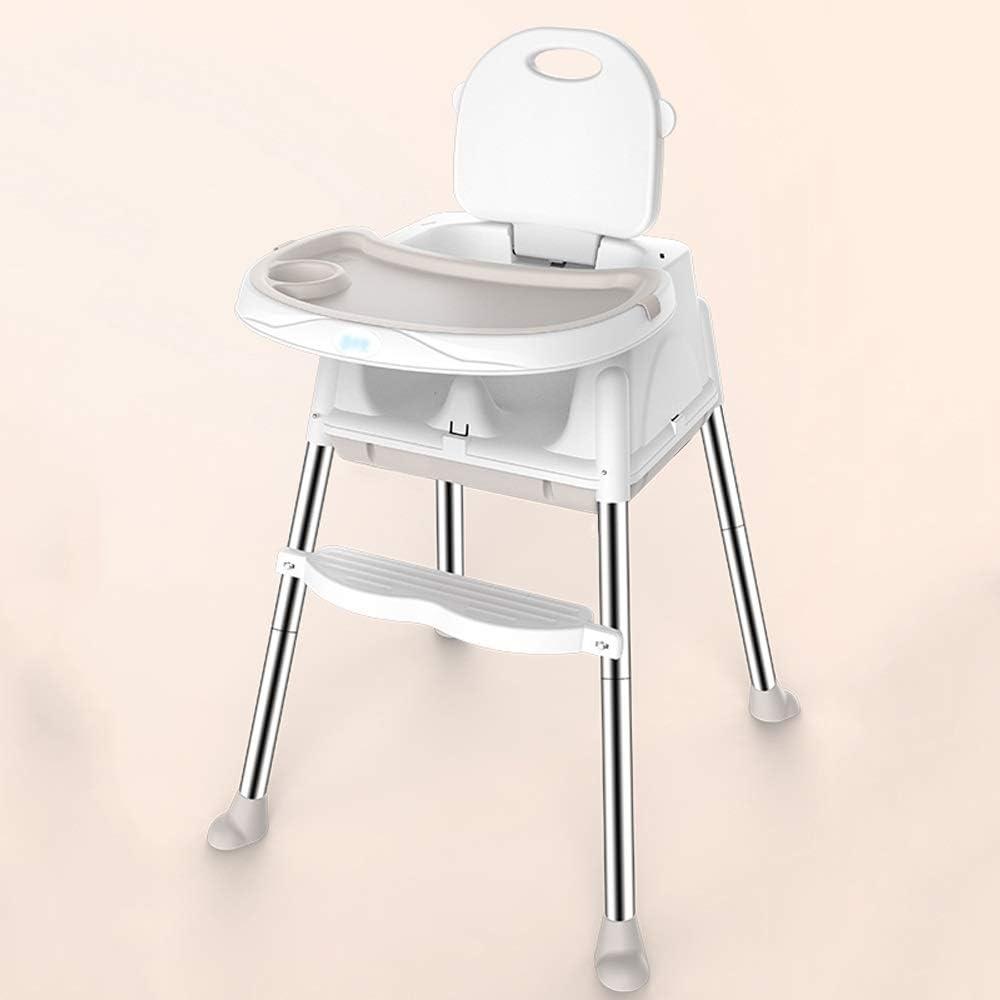WJ 赤ちゃんハイチェア - ステンレス鋼/食品グレードpp、6ヶ月 - 3歳赤ちゃん多機能ダイニングチェアテーブル高さ調節可能なポータブルダイニングテーブルシート - 3色オプション /-/ (色 : ベージュ, サイズ さいず : B)