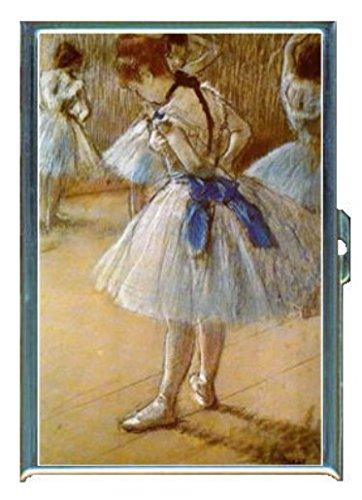 Edgar DegasバレエDancers RehearsingステンレススチールIDまたはCigarettesケース( Kingサイズまたは100 mm )   B00SW1P9RS