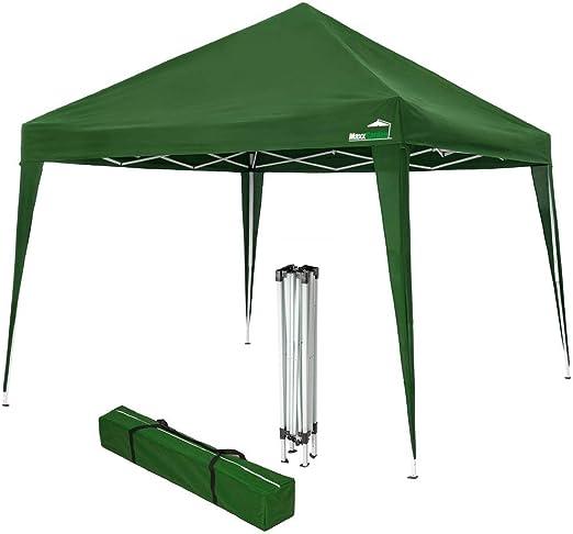 MaxxGarden - Cenador impermeable (3 x 3 m, incluye bolsa, protección UV 50+), color verde: Amazon.es: Jardín