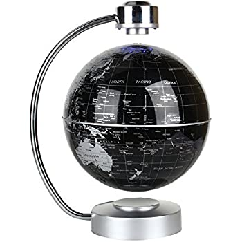 Amazon floating globe office desk display magnetic levitating floating globe office desk display magnetic levitating and rotating planet earth globe ball with world gumiabroncs Images