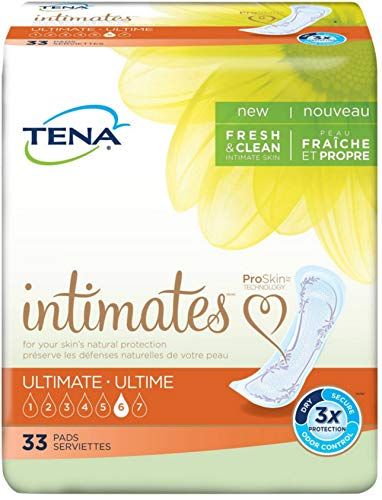 Tena Intimates Ultimate Incontinence Pad for Women, 33 Count