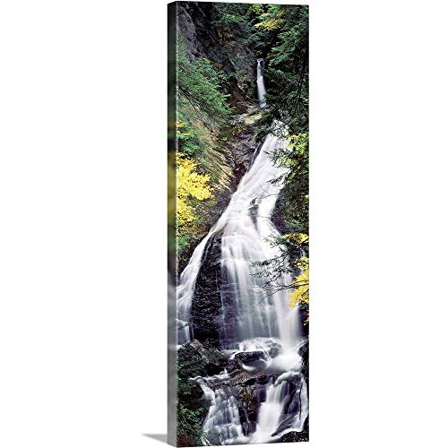 GREATBIGCANVAS Gallery-Wrapped Canvas Vermont, Stowe, CC Putnam State Forest, Moss Glen Falls, Waterfall in The Forest by 16
