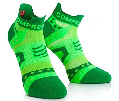 Compressport ProRacing Socks Ultralight Run Low Cut Green T2