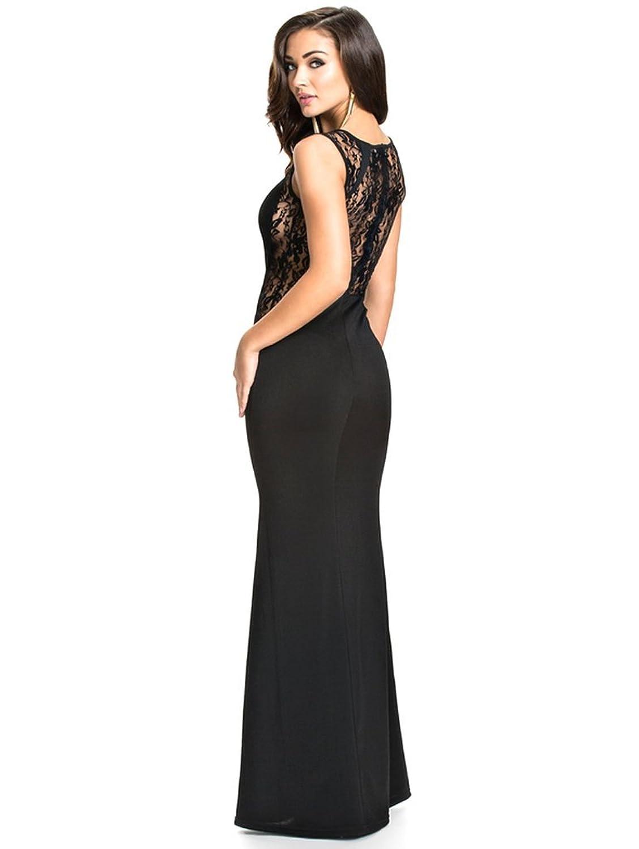 ipretty Sexy Damen Partykleid lang ärmellos Kleid elegant damen ...