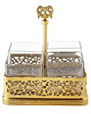 Gold-Tone Pierced Flatware Caddy, GOLD
