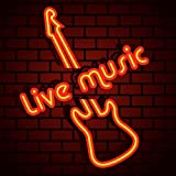 Urby™ Live Music Neon Sign Neon Light Beer Bar Pub Recreation Room Windows Wall Sign Display Signboards 18''x14'' A27-07