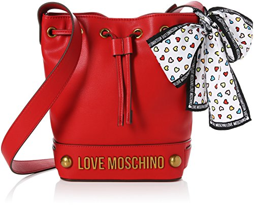 SS 18 tracolla Moschino JC4349PP05K60500 Rosso Gran Con Borsa secchiello Love PU afqfwz