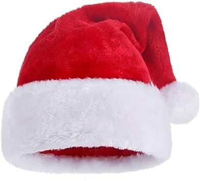 2* Schön Weihnachtsmann Mützen Gedruckt Rote Weihnachtsmützen Nikolausmützen