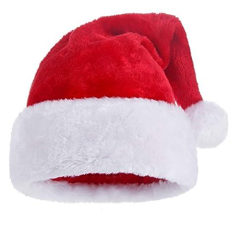 KFZR Babbo Natale Babbo Natale Cappelli Ispessito Caldo Morbido Adulto  Unisex 12.2   19.6 Pollici ( c3a7ae8dfc04