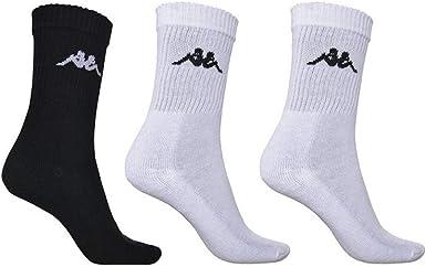Lo anterior completar Acumulativo  Kappa chimido Deportes Calcetines Co X3 Blanco Negro.