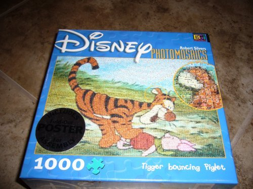 Disney Photomosaics: Tigger Bouncing Piglet by Robert Silvers