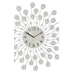 Deco 79 66982 Classy Metal Acrylic Wall Clock, 19 D