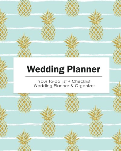 wedding planner glod glitter pine apple your to do list wedding