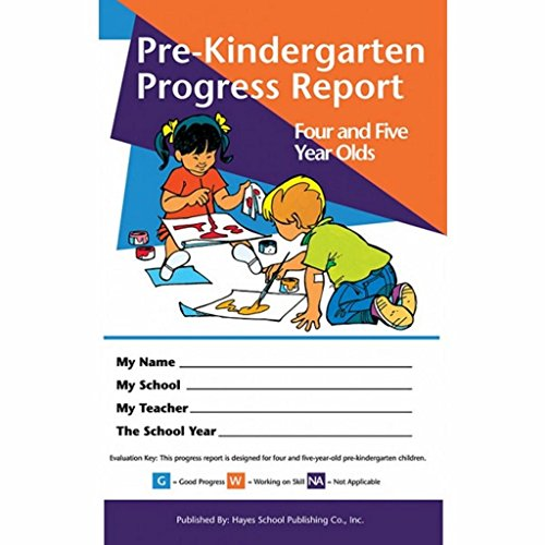 Pack of 80 Pre-Kindergarten Progress Reports for 4 and 5 Year olds by Hayes (Image #3)