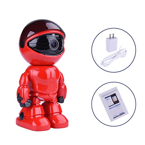 Wireless Ip Camera 1080P Robot 2.0MP Security Camera Night Vision Alarm Audio Baby Monitor Pan Tilt Remote Home Security P2P IR Night Vision for Mobile Android/IOS and Laptop (Red) by Tianbudz (Image #8)