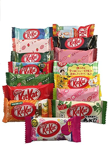 Japanese-Kit-Kat-16-pcs-TONOSAMA-selection-ALL-DIFFERENT-FLAVORS-by-TONOSAMA-CANDY