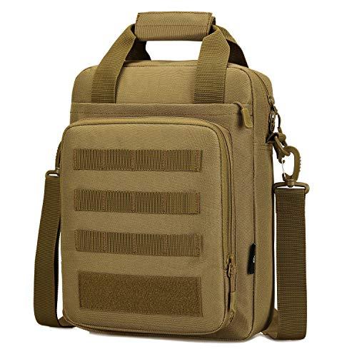 CamGo Tactical messenger bag for laptop Briefcase, Shoulder Crossbody Bag Tote School College bag (Brown style 2)
