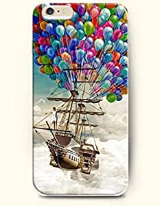 OFFIT iPhone 6 Plus Case 5.5 Inches Flying Sailboat and Balloon