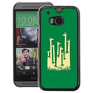 A-type Arte & diseño plástico duro Fundas Cover Cubre Hard Case Cover para HTC One M8 (Giraffe Africa Minimalist Artistic)