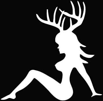 Hunting sexy girl deer buck decal car truck wall computer laptop phone 5 5 in