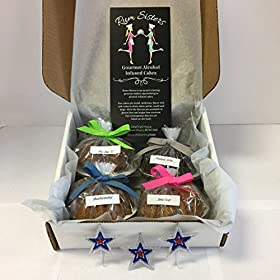 """Rum Sisters Gourmet Alcohol Infused Cakes """"FREEDOM 4 Pack"""" (pack of 4) – Made in USA"""