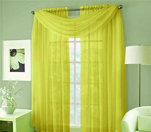 GorgeousHomeLinen (LILY) Yellow Versatile Multi Use 3pc S...