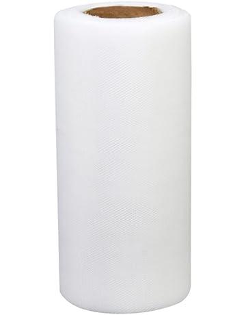1 Rouleau de Tulle Décoration pour Tutu Banquet Mariage Artisanat DIY 22m x  15cm - Blanc e2171f009c56