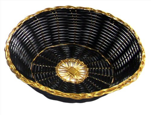 New Star Foodservice 44232 Polypropylene Round Hand Woven Food Basket (Set of 12), 8