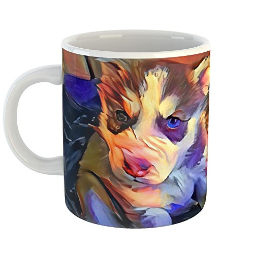 l Art - 15oz Coffee Cup Mug - Abstract Artwork Home Office Birthday Christmas Gift - 15 Ounce ()