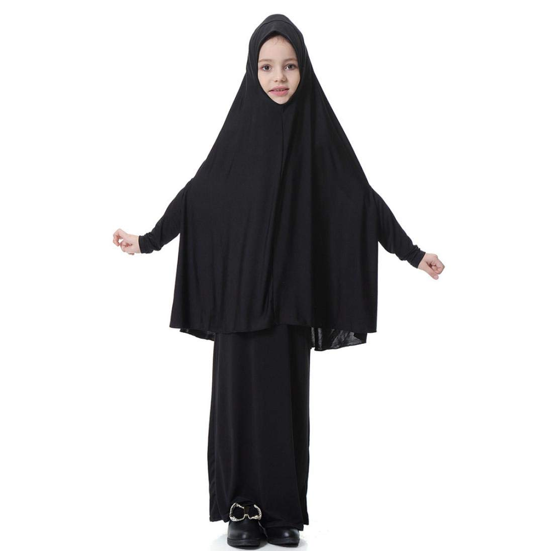 Sunma-ma 2Pcs Kid Child Fashion and Casual Dress Set -Muslim Batwing Sleeve Blouse O-neck Top Long Skirt Outfits Set by Suma-ma