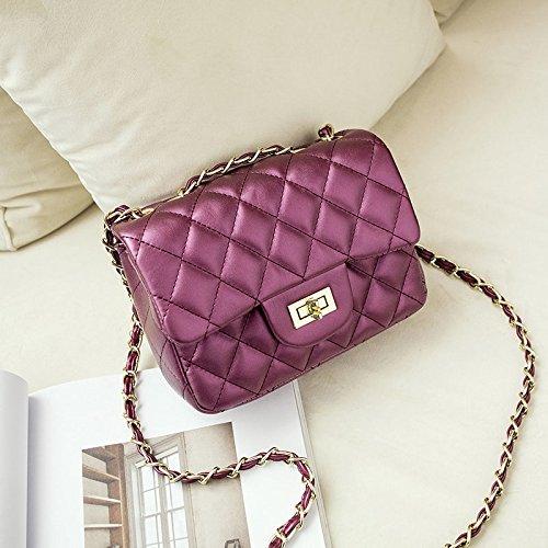 AASSDDFF Famous Brand Messenger Bags Luxury Shoulder Bag Bolsos de diseño acolchados Mujeres Pink Bag Vintage Small Crossbody Bags, Lavender Púrpura