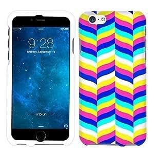 Apple iPhone 6 Plus Chevron White Blue Pink Yellow Pattern Phone Case