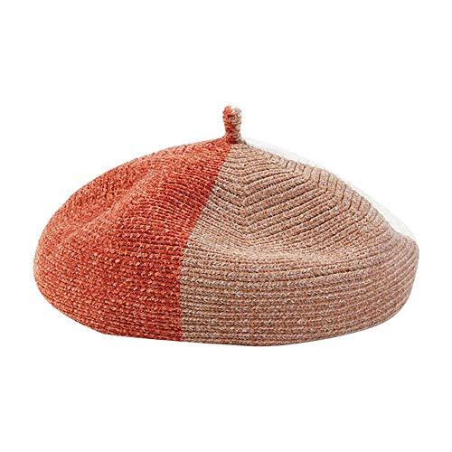 French Beret Hat Winter Warm Pachwork Beanie Cap Hat Artist Hat
