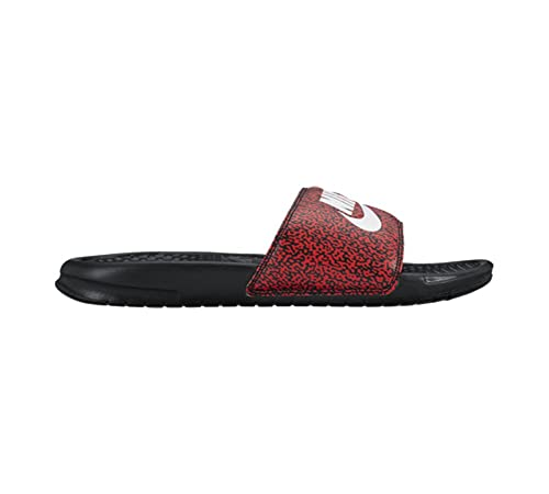 be1e9d638 Nike Men s Benassi JDI Print ActionRed wht-Blk House Slippers-7 UK ...
