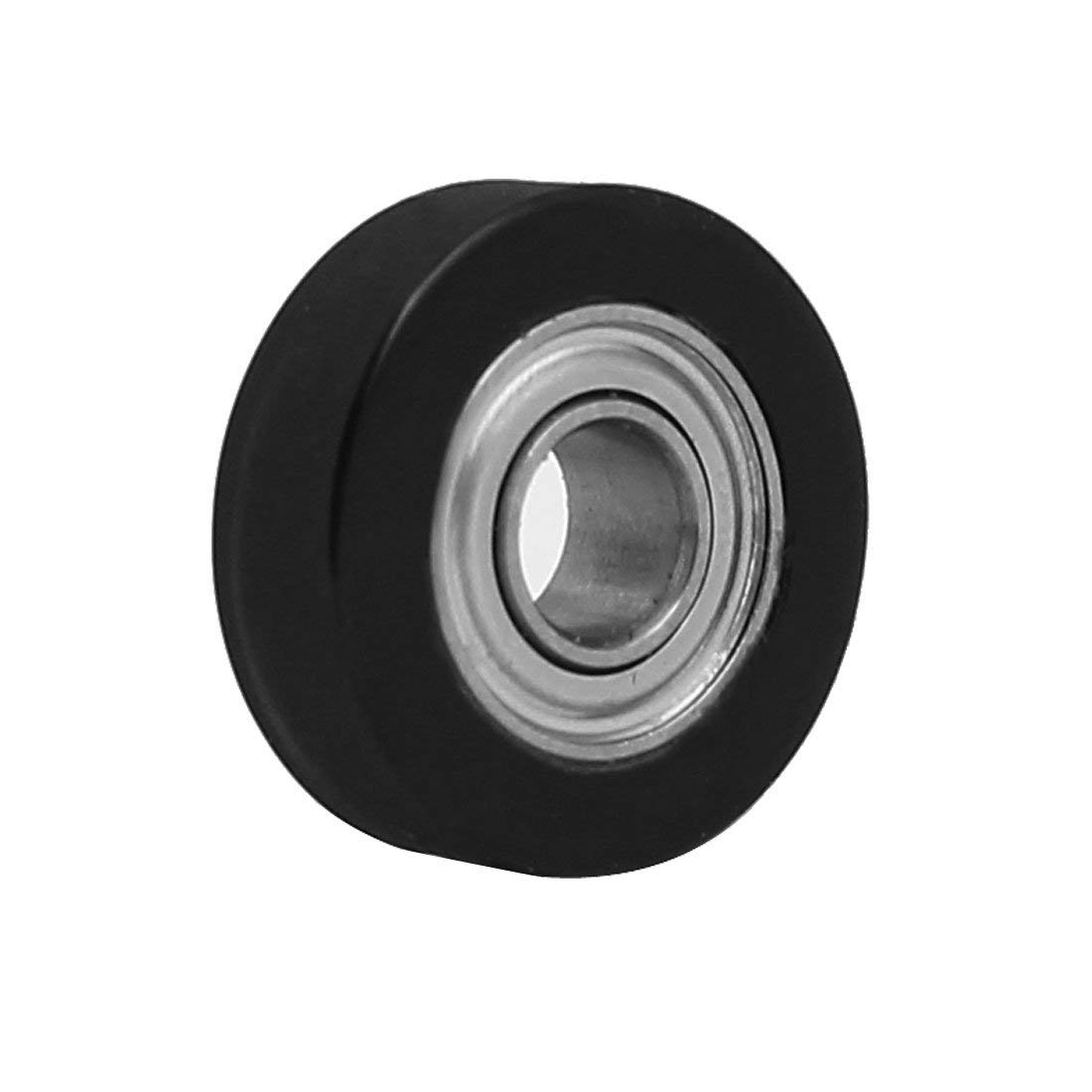 4mm x 13mm x 4mm PU Roller Bearing Pulley Sliding Converyor Wheel Black