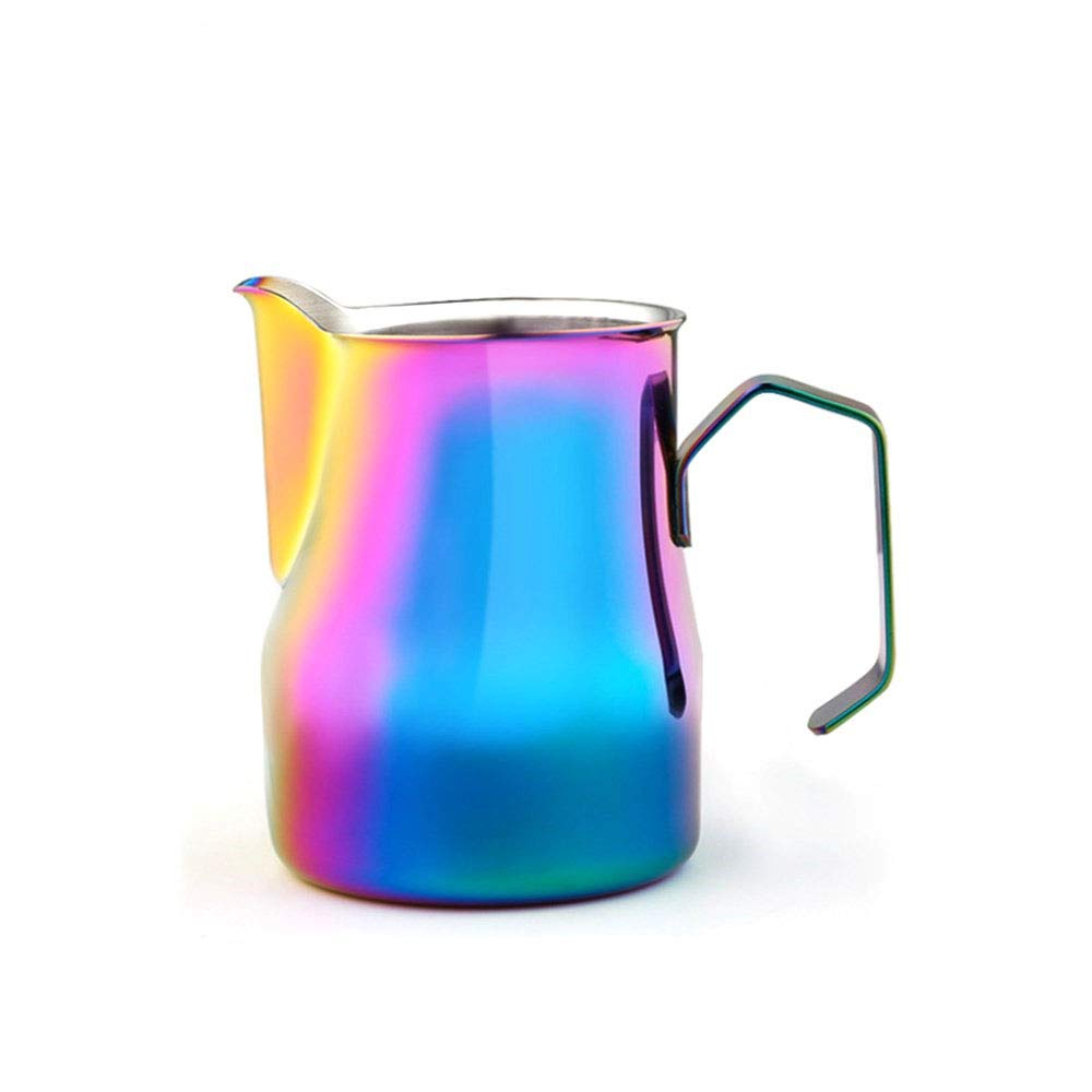 Ss Stainless Steel Milk Frothing Pitcher Cappuccino Pitcher Pouring Jug Espresso Cup Creamer Cup for Latte Art, 12 Ounce (350 ML),3
