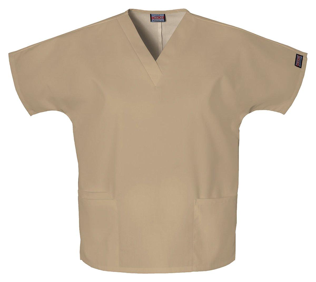 Cherokee Women's V-Neck Scrub Top, Dark Khaki, Small