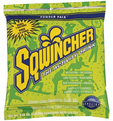 Sqwincher 9.53 Ounce Instant Powder Pack - Yields 1 Gallon (20 Packets Per Box) - Flavor: Lemon-Lime -