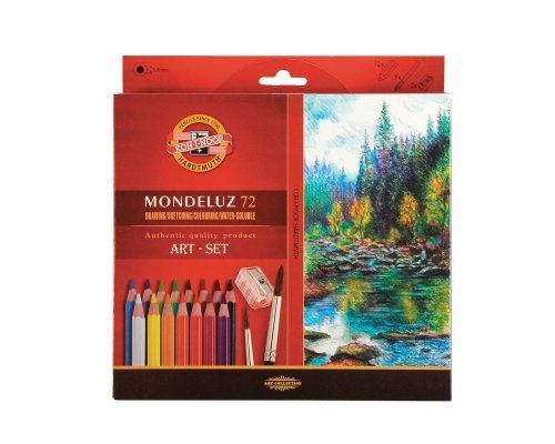 KOH I NOOR Mondeluz 72 Watercolour Pencils with 2 Watercolour Brushes by Unbekannt