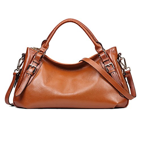 - Kattee Women's Genuine Leather Hobo Shoulder Bag Sorrel